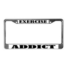 Exercise Addict License Plate Frame