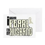 I Wear Pearl For My Husband 6 Greeting Cards (Pk o