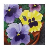 Pansy Drink Coasters
