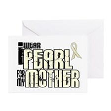 I Wear Pearl For My Mother 6 Greeting Cards (Pk of