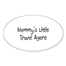 Mommy's Little Travel Agent Oval Decal
