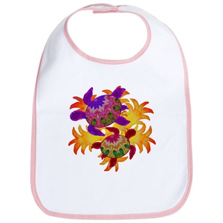 Flaming Turtles Bib