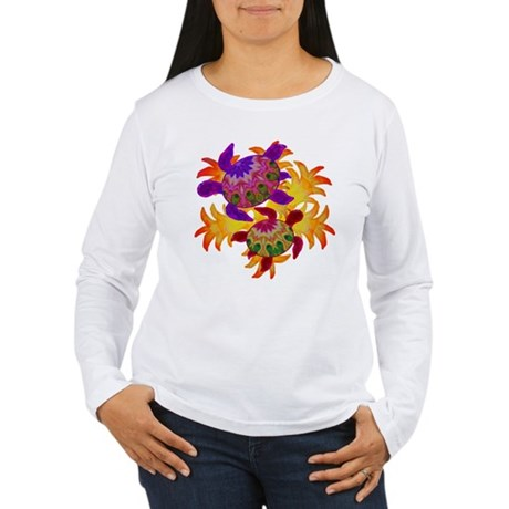 Flaming Turtles Women's Long Sleeve T-Shirt