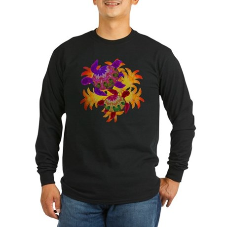 Flaming Turtles Long Sleeve Dark T-Shirt