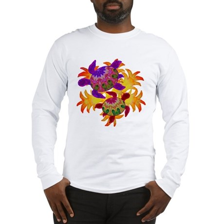 Flaming Turtles Long Sleeve T-Shirt