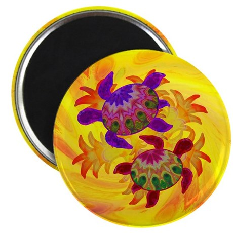 "Flaming Turtles 2.25"" Magnet (100 pack)"