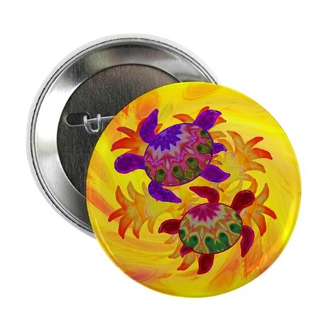 "Flaming Turtles 2.25"" Button (100 pack)"