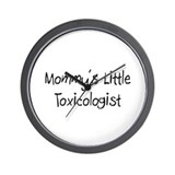 Mommy's Little Toxicologist Wall Clock