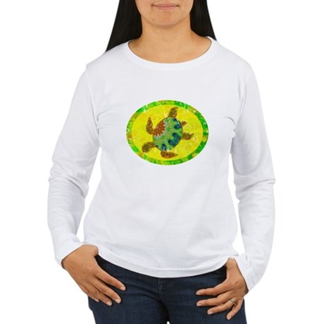 Distressed Turtle Women's Long Sleeve T-Shirt