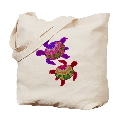 Painted Turtles Tote Bag