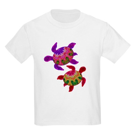 Painted Turtles Kids Light T-Shirt