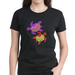 Painted Turtles Women's Dark T-Shirt