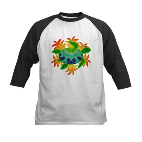 Flame Turtle Kids Baseball Jersey