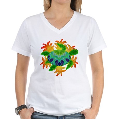 Flame Turtle Women's V-Neck T-Shirt