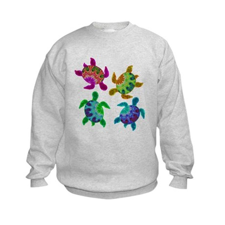 Multi Painted Turtles Kids Sweatshirt