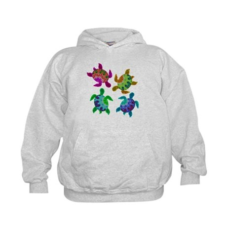 Multi Painted Turtles Kids Hoodie