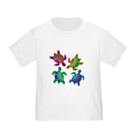 Multi Painted Turtles Toddler T-Shirt
