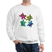 Multi Painted Turtles Sweatshirt