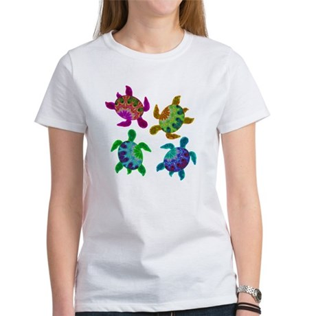 Multi Painted Turtles Women's T-Shirt