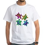 Multi Painted Turtles White T-Shirt