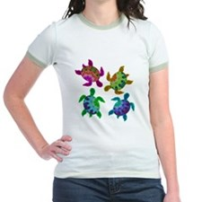 Multi Painted Turtles Jr. Ringer T-Shirt