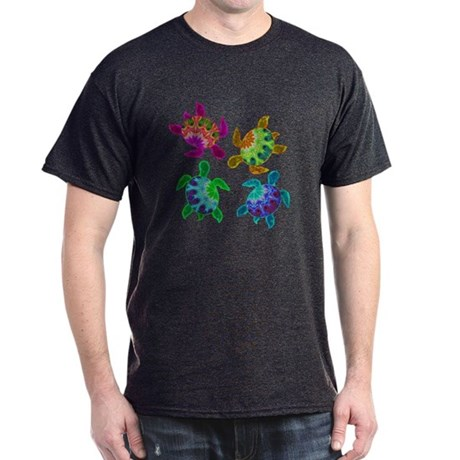 Multi Painted Turtles Dark T-Shirt