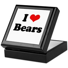 I love bears Keepsake Box
