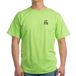 I love being on top Green T-Shirt