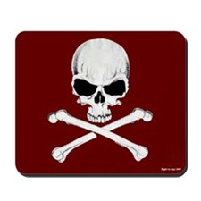 Crossbones Mousepad (Red)