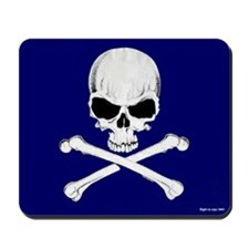 Crossbones Mousepad (Blue)