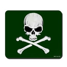 Crossbones Mousepad (Green)