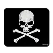 Crossbones Mousepad (Black)