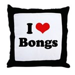 I love bongs Throw Pillow