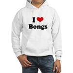 I love bongs Hooded Sweatshirt