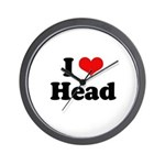 I love head Wall Clock