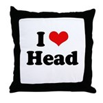I love head Throw Pillow
