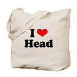 I love head Tote Bag