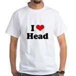 I love head White T-Shirt