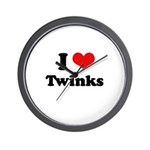 I love twinks Wall Clock