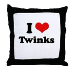 I love twinks Throw Pillow