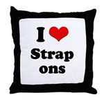 I love strap ons Throw Pillow