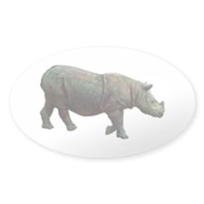 sumatran rhino Oval Sticker (50 pk)