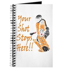 Hockey Goalie - Orange Journal