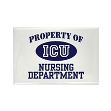 Property of ICU Nursing Department Rectangle Magne