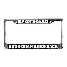 K9 Rhodesian Ridgeback License Plate Frame