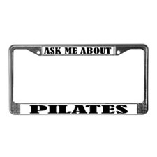 Ask About Pilates License Plate Frame