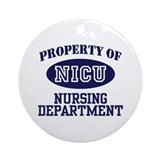 Property of NICU Nursing Department Ornament (Roun