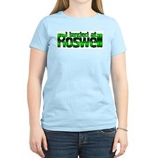 I landed at Roswell Women's Pink T-Shirt