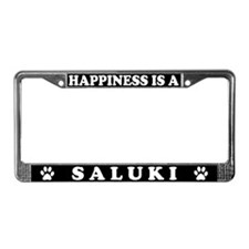 Happiness Is A Saluki License Plate Frame