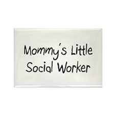 Mommy's Little Social Worker Rectangle Magnet (10